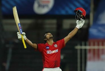 Mayank Agarwal celebrates his century