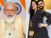Narendra Modi, Virat Kohli and Anushka Sharma