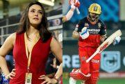 Preity Zinta and Virat Kohli