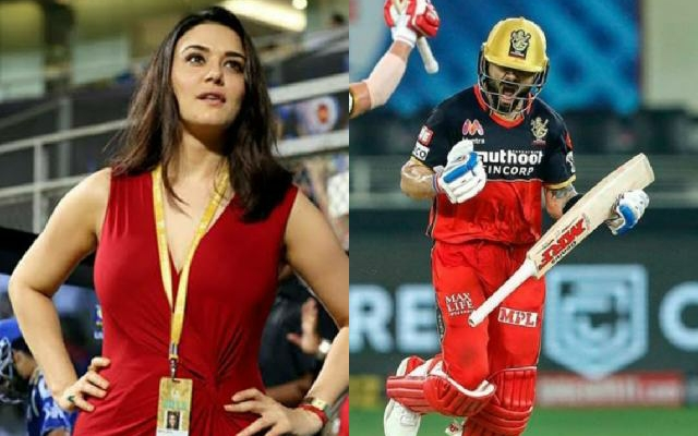 Preity Zinta and Virat Kohli