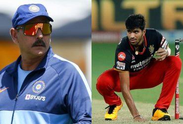 Ravi Shastri and Washington Sundar