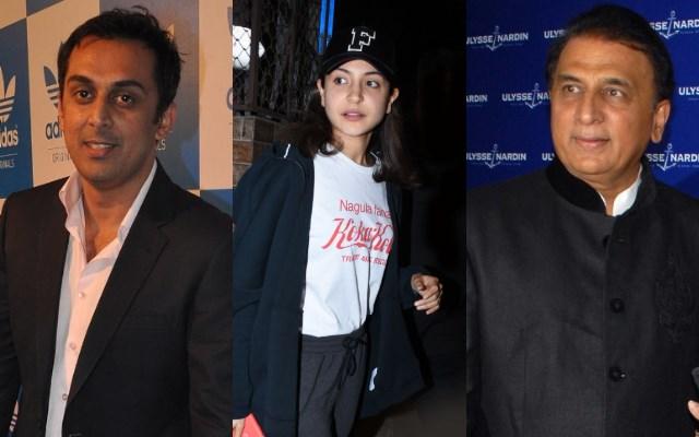 Rohan Gavaskar, Anushka Sharma and Sunil Gavaskar