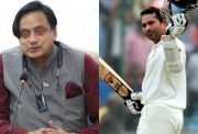 Shashi Tharoor and Sachin Tendulkar