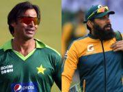 Shoaib Akhtar and Misbah ul Haq