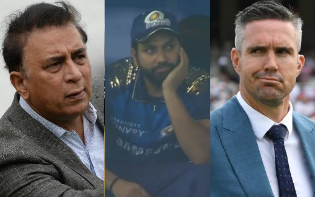 Sunil Gavaskar, Rohit Sharma and Kevin Pietersen