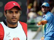 Tanvir Ahmed and MS Dhoni
