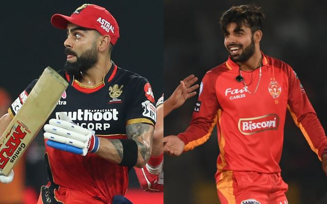 Virat Kohli and Shadab Khan