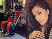 Yuzvendra Chahal, Ab de Villiers and Dhanshree Verma