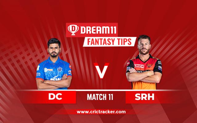 DC vs SRH Dream11 Match 11 IPL 2020