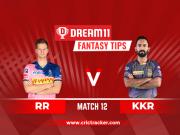 RR vs KKR Dream11 IPL 2020 Match 12