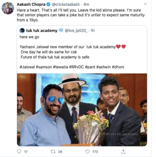 Aakash Chopra Twitter