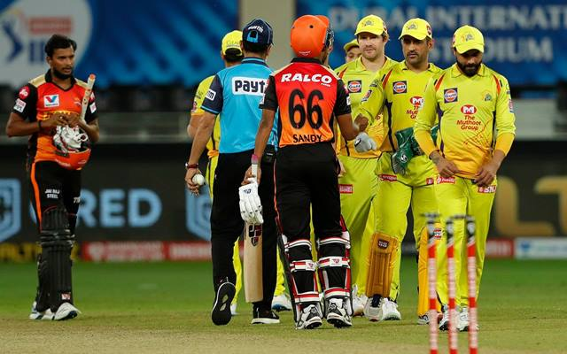 Chennai Super Kings celebrates the win
