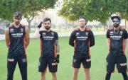 Devdutt Padikkal, Virat Kohli, AB de Villiers and Mohammed Siraj