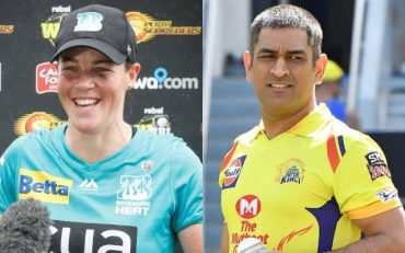 Grace Harris and MS Dhoni