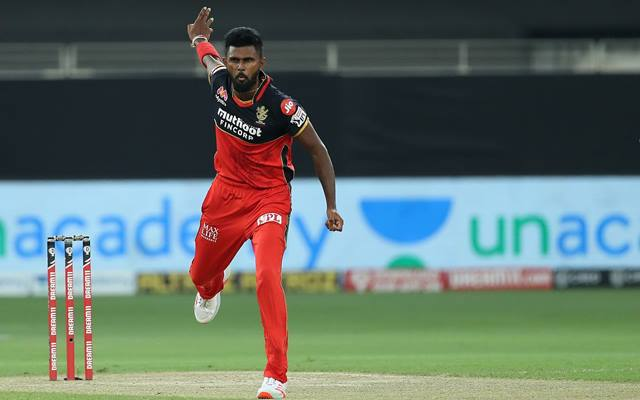 Isuru Udana of Royal Challengers Bangalore