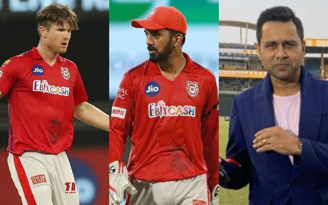 Jimmy Neesham, KL Rahul and Aakash Chopra