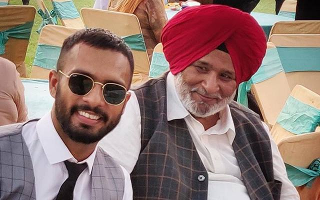 Mandeep Singh with his father.