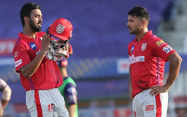Mayank Agarwal and KL Rahul of Kings XI Punjab