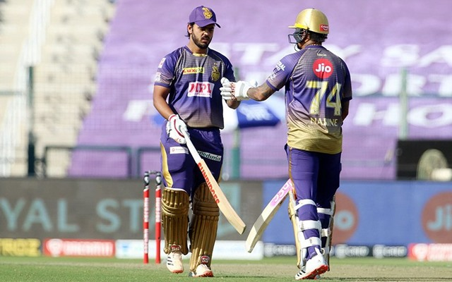 Nitish Rana and Sunil Narine