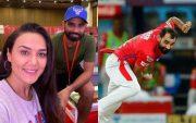 Preity Zinta and Mohammed Shami