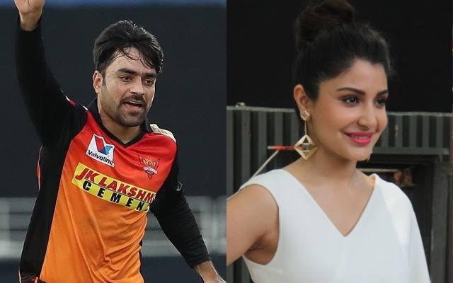Rashid Khan and Anushka Sharma