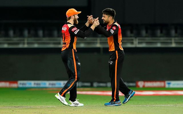 Rashid Khan and Kane Williamson