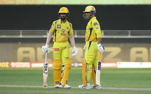 Ruturaj Gaikwad and MS Dhoni