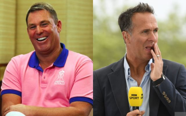 Shane Warne and Michael Vuaghan