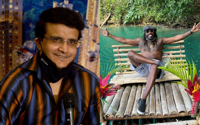Sourav Ganguly and Chris Gayle
