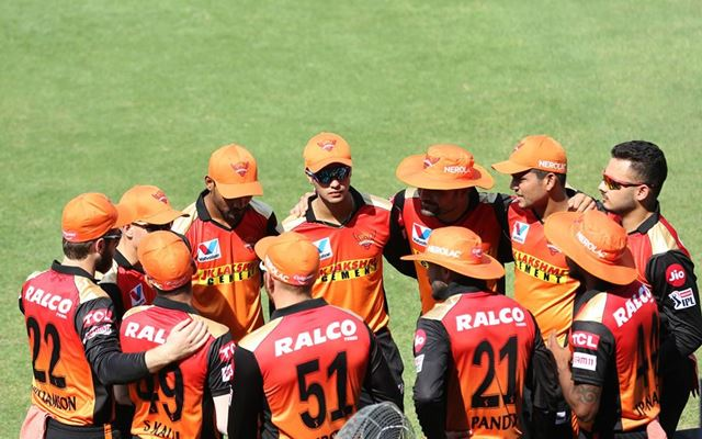 Sunrisers Hyderabad huddel