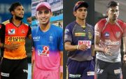T Natarajan, Kartik Tyagi, Kamlesh Nagarkoti and Ishan Porel