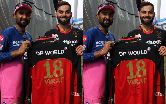 Virat Kohli and Rahul Tewatia