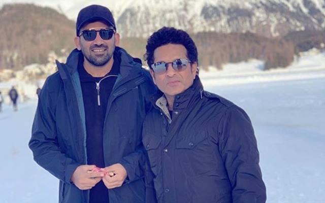 Zaheer Khan and Sachin Tendulkar