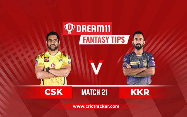 KKR vs CSK IPL 2020 Match 21