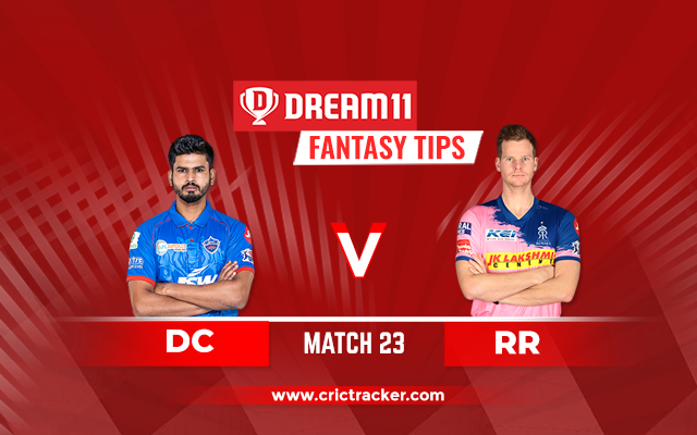 RR vs DC D11 IPL 2020 Match 23