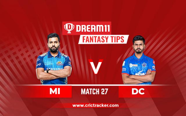 MI vs DC D11 IPL 2020 M27