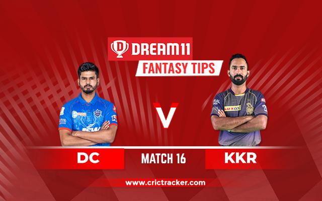 DC vs KKR D11 IPL 2020 Match 16