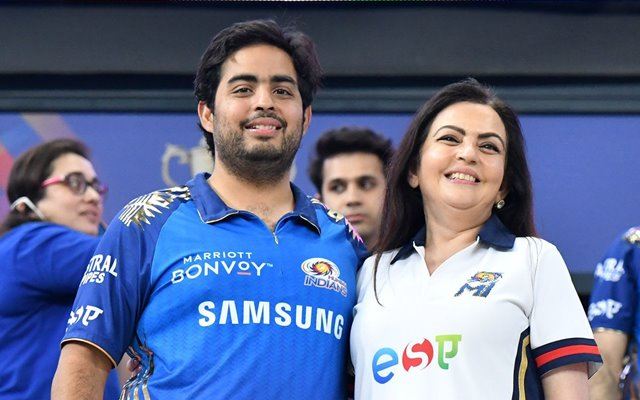 Akash Ambani and Nita Ambani