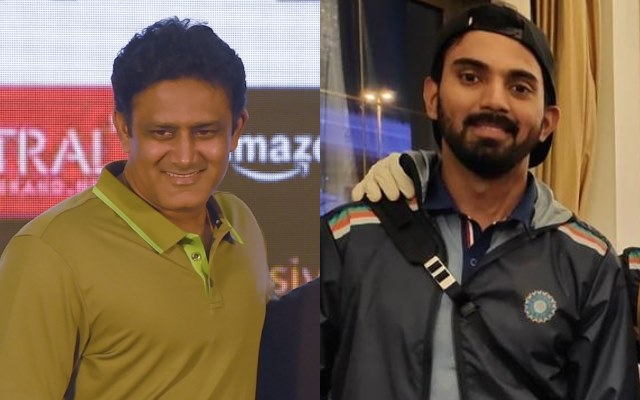 Anil Kumble and KL Rahul