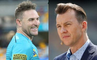 Brendon McCullum and Brett Lee