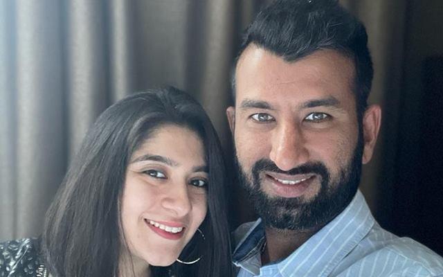 Cheteshwar Pujara and his wife