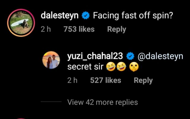 Dale Steyn's comment