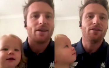 Jos Buttler and his daughter