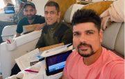 MS Dhoni, Monu Singh and Karn Sharma