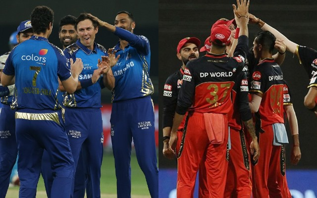 Mumbai Indians and Royal Challengers Bangalore