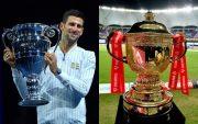 Novak Djokovic and IPL trophy