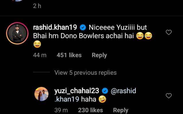 Rashid Khan's comment