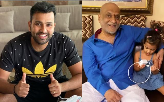 Rohit Sharma and his father