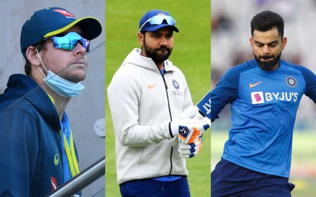 Steve Smith, Rohit Sharma and Virat Kohli