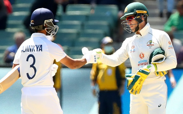 Ajinkya Rahane and Tim Paine Australia vs India
